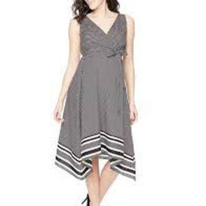 MOTHERHOOD MATERNITY Hanky-Hem Belted Dress